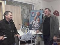 Náš lis v atelieru výtvarníka pana R. Paucha v Praze
